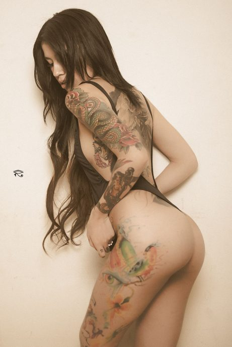 Jessica Alvarez hot ass tattooed babe