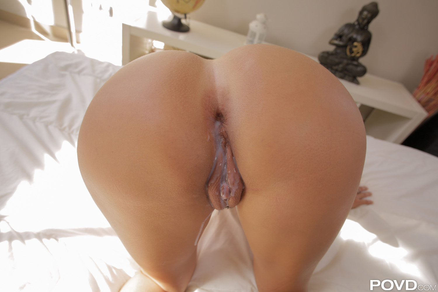 Ass huge creampie ebony