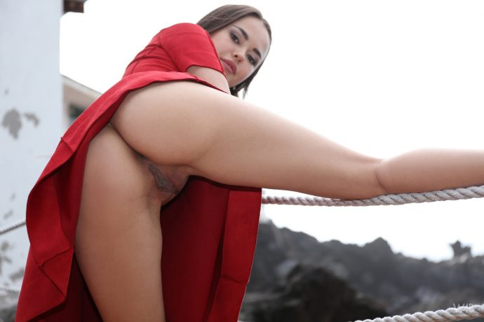 li moon hot asian posing in a sexy red dress 12 greatnass.com_