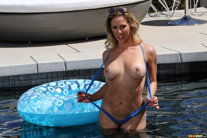 Cherie Deville has the perfect ass and she s not afraid to show it by the pool wearing a blue swiming suit 4 greatnass.com_