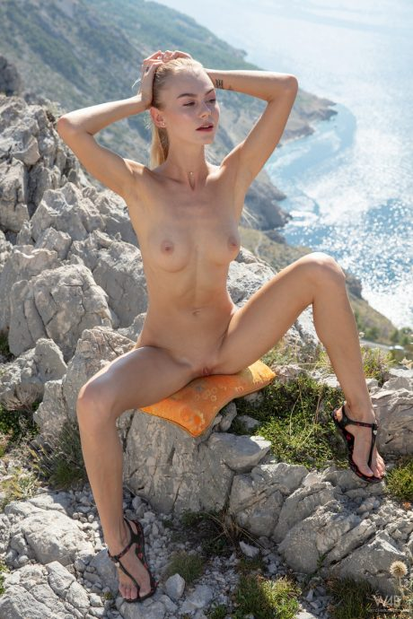 Nancy A goes on a hike and shows her sexy body from the top 14 greatnass.com_