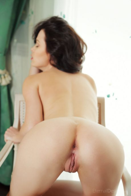 Stunning brunette eve naked on a chair by the window 15 greatnass.com_
